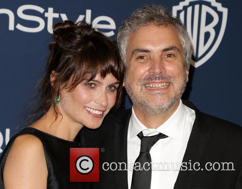 Sheherazade Goldsmith and Alfonso Cuaron 5