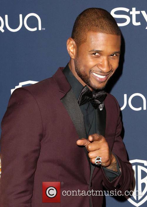 Usher, Oasis Courtyard at the Beverly Hilton Hotel, Golden Globe Awards, Beverly Hilton Hotel