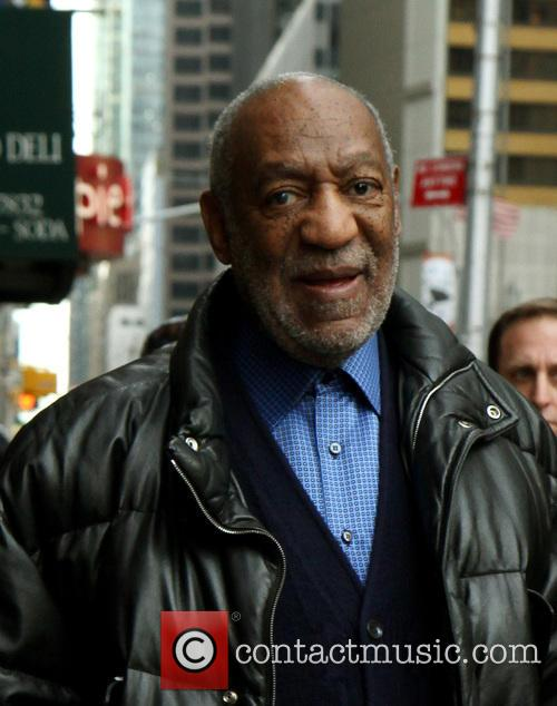 Bill Cosby outside The Late Show with David Letterman