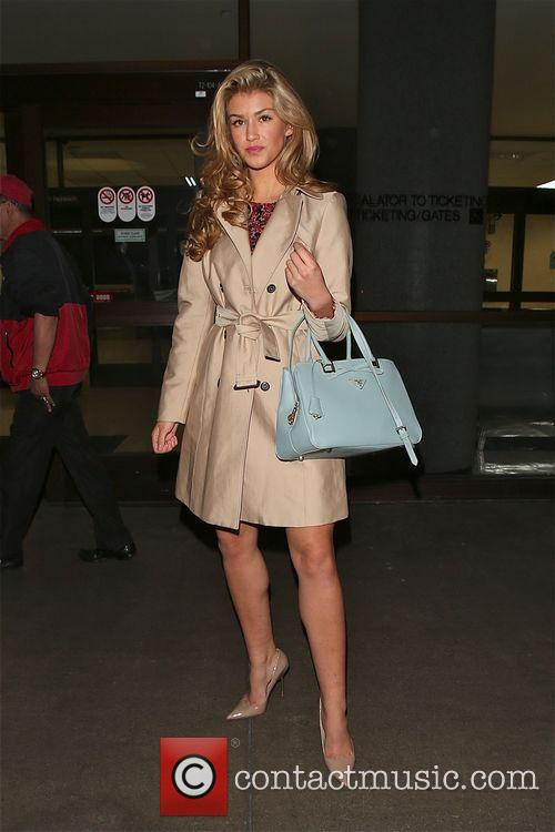 Amy Willerton arrives in Los Angeles at LAX