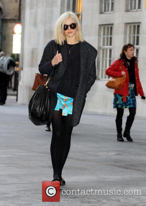 Fearne Cotton is seen arriving at BBC Radio...