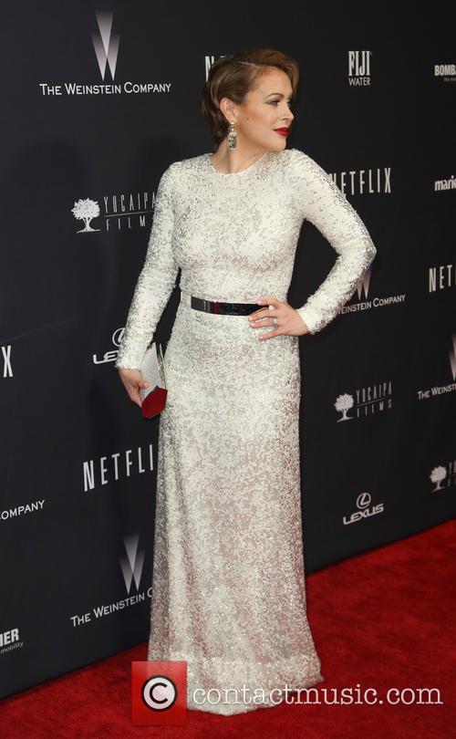 Alyssa Milano, Golden Globes, Beverly Hills Hotel
