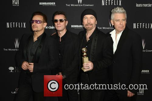 U2 at this year's Golden Globes where they won an award for the song 'Ordinary Love.'