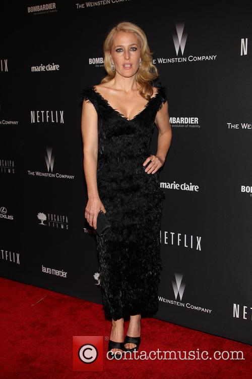 Gillian Anderson, The Beverly Hilton Hotel, Golden Globe Awards, Beverly Hilton Hotel