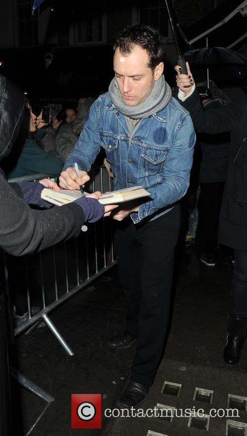 Jude Law Leaving The Noel Coward Theatre