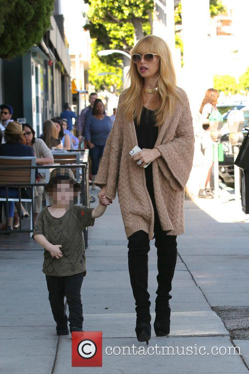 Rachel Zoe and son Skyler out together