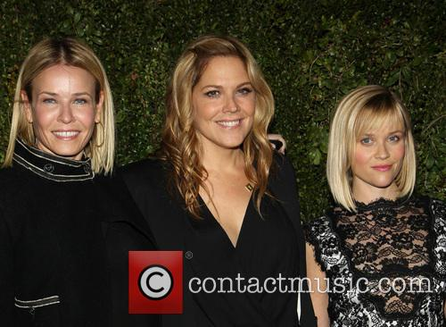 Chelsea with celebrity friends Mary mcCormack and Reese Witherspoon
