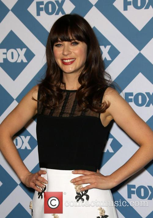Zooey Deschanel attends the FOX All-Star Party on January 14th