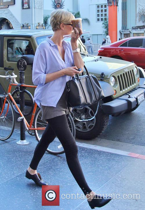 charlize theron charlize theron leaves coffee bean 4026647