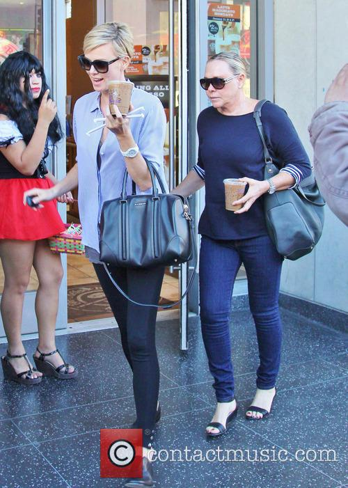 Charlize Theron leaves Coffee Bean