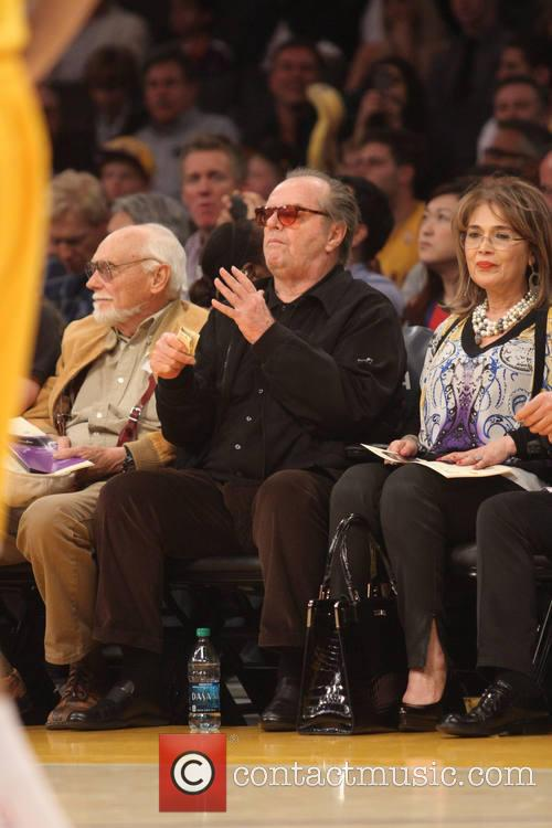 Celebrities watch the Cleveland Cavaliers v Los Angeles...