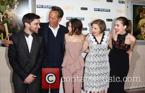 Evan Jonigkeit, Zosia Mamet, Lena Dunham, Allison Williams and Richard E. Grant