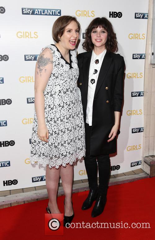 Lena Dunham and Felicity Jones 3