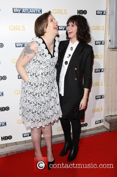 Lena Dunham and Felicity Jones 1