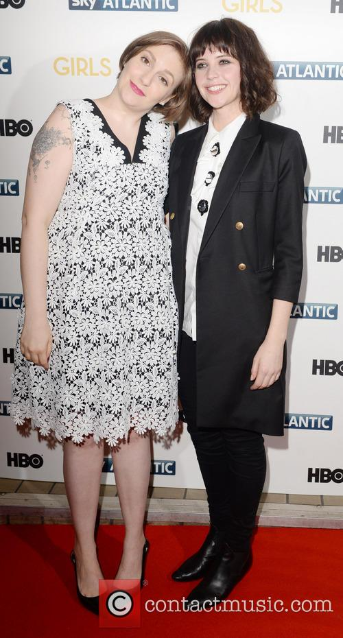 Lena Dunham and Felicity Jones 11
