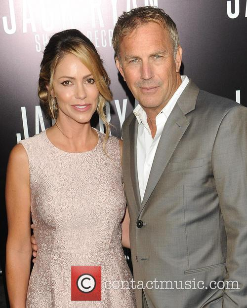 Kevin Costner, Christine Baumgartner and Jack Ryan