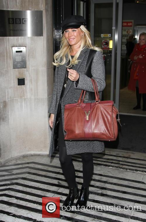 Denise van Outen leaving the BBC Radio 2...