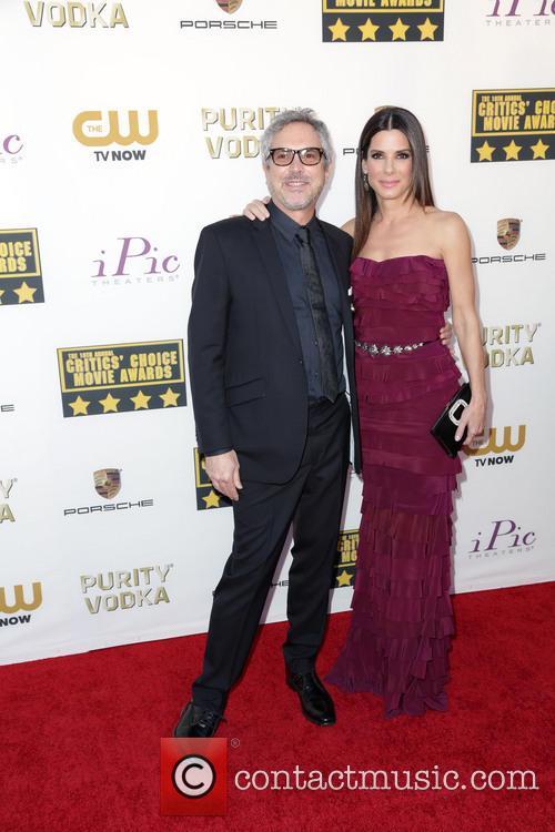 Alfonso Cuaron and Sandra Bullock 1
