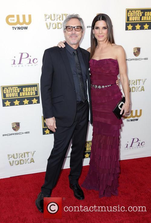 Alfonso Cuaron and Sandra Bullock 3