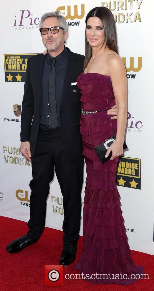 Alfonso Cuaron and Sandra Bullock 2