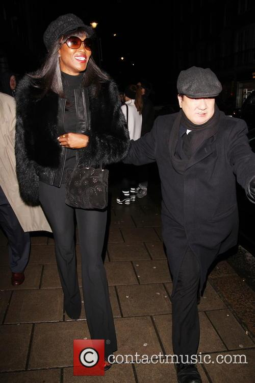 Naomi Campbell arrives at Kate Moss' 40th birthday...
