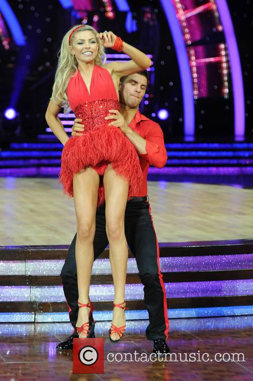 Abbey Clancy and Aljaz Skorjanec 2