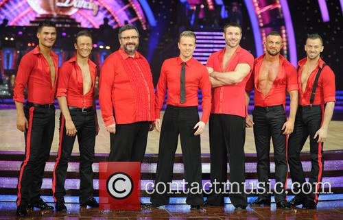 Aljaz Skorjanec, Artem Chigvintsev, Mark Benton, Ben Cohen, Kevin Clifton, Robin Windsor and Nicky Byrne 1