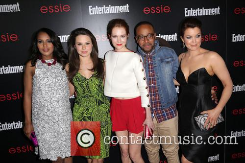 Kerry Washington, Katie Lowes, Darby Stanchfield, Columbus Short and Bellamy Young 2
