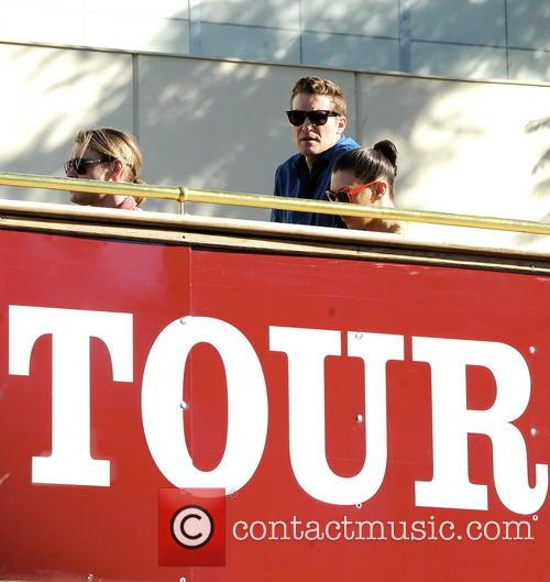 The cast of Glee take a tour of...