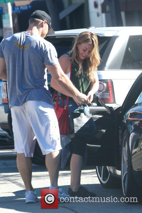 Hilary Duff leaving the gym