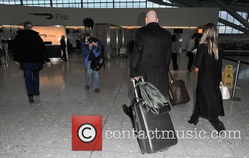 Kim Kardashian at Heathrow airport