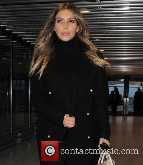 Kim Kardashian, Heathrow Airport