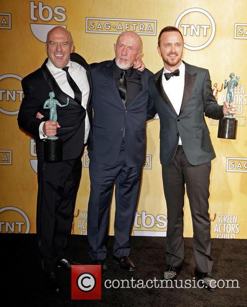 Jonathan Banks, Dean Norris and Aaron Paul 2