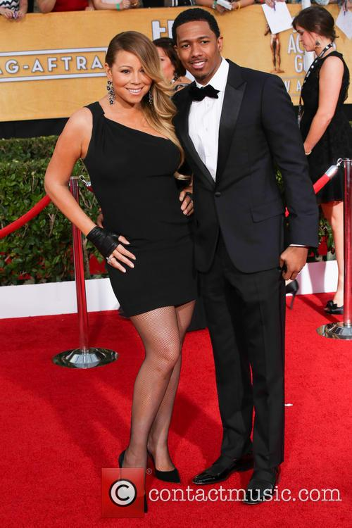 Mariah Carey and Nick Cannon at 2014 Screen Actors Guild Awards