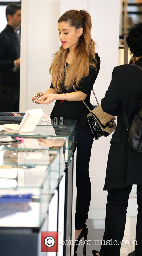 Ariana Grande shopping at Chanel Boutique on Robertson...
