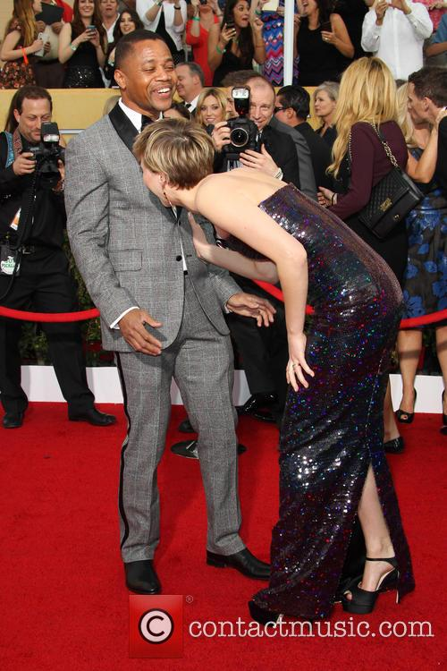 Cuba Gooding Jr. and Jennifer Lawrence 1