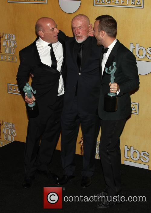 Dean Norris, Jonathan Banks and Aaron Paul 2