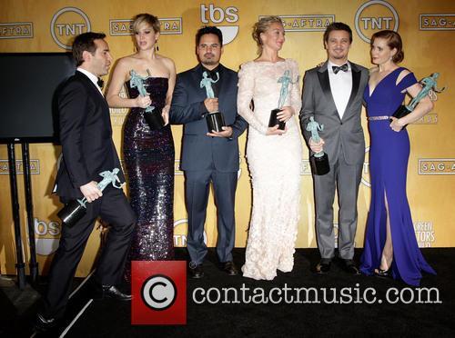 Alessandro Nivola, Jennifer Lawrence, Michael Pena, Elisabeth Röhm, Jeremy Renner, Amy Adams, The Shrine Auditorium, Screen Actors Guild
