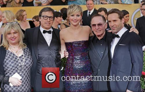 Collen Camp, David O'russell, Jennifer Lawrence, Paul Herman and Alessandro Nivola