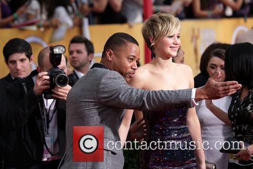 Cuba Gooding Jr. and Jennifer Lawrence 2
