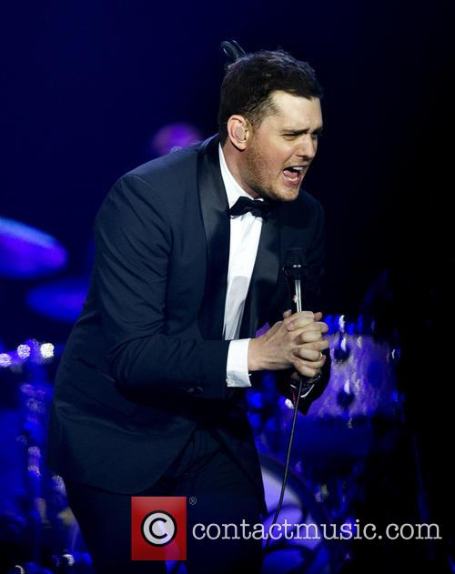 Michael Buble performs live in concert