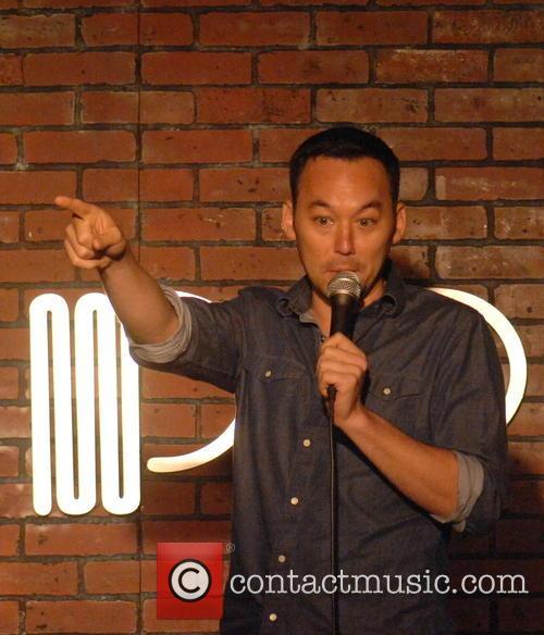 Comedian Steve Byrne performs at the Addison Improv
