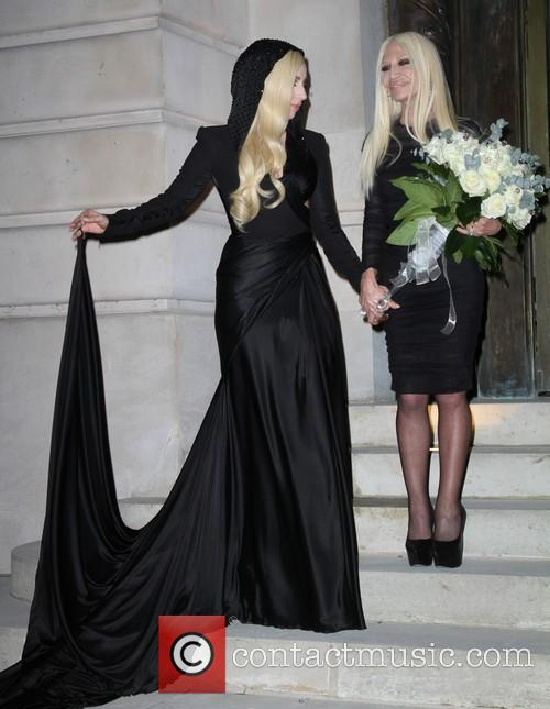 Lady Gaga and Donatella Versace 2