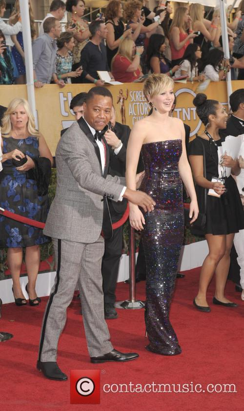 Cuba Gooding Jr. and Jennifer Lawrence 2