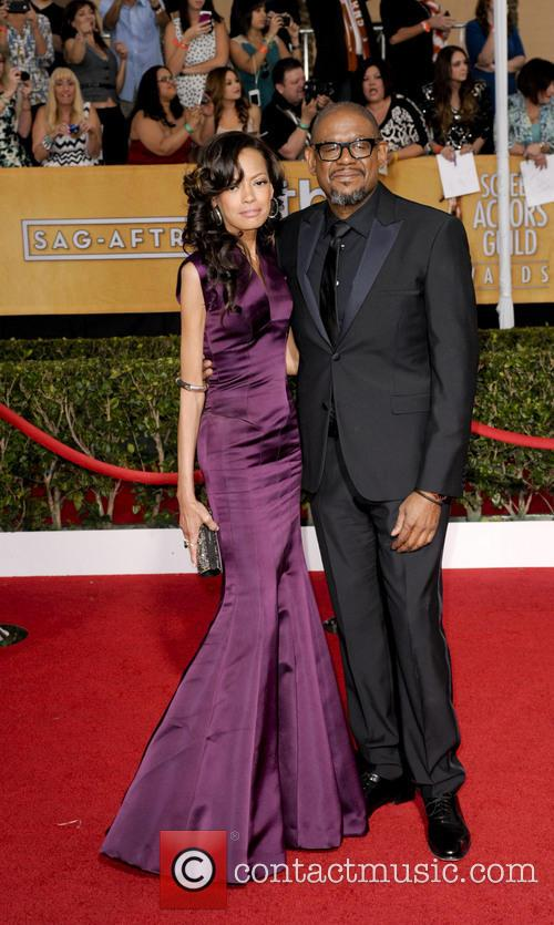 Forest Whitaker and his wife Keisha at the Screen Actor's Guild Awards