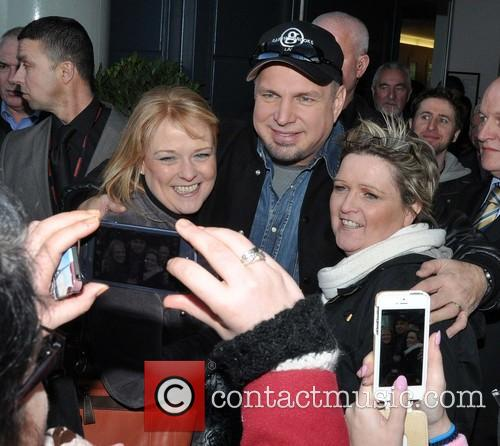 Garth Brooks meets fans outside Croke Park following...