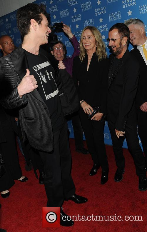 Jim Carrey, Ringo Starr, Barbara Bach and David Lynch 2
