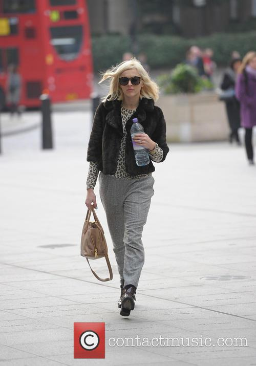 Fearne Cotton arriving at the Radio 1 studios