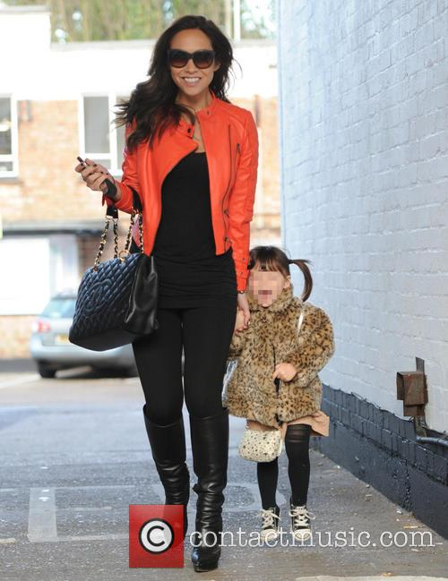 Myleene Klass out and about with daughters