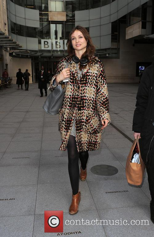 Sophie Ellis-Bextor leaving the Radio 1 studios